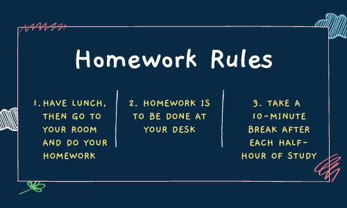Homework Rules - LIz Monson